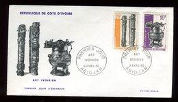 Côte D'Ivoire - Enveloppe FDC 1966 - Art Ivoirien - O 127 - Côte D'Ivoire (1960-...)