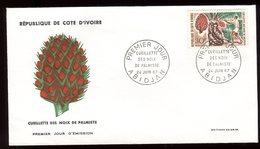 Côte D'Ivoire - Enveloppe FDC 1967 - Cueillette Des Noix - O 128 - Ivory Coast (1960-...)