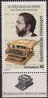 2017 Österreich Austria Mi. 3327 **MNH Peter Mitterhofer (1822-1893), Zimmermann Und Erfinder; Schreibmaschine - 1945-.... 2. Republik