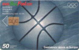 TARJETA TELEFONICA DE BULGARIA. Basketball, FON-C-0278. (030) - Jeux Olympiques