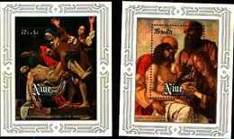 """72319) NIUE - CARAVAGGIO """"La Discesa"""" Tema Di Pasqua 1978- BF-5-6 - MNH** - Niue"""