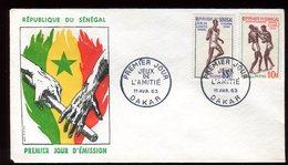Sénégal - Enveloppe FDC 1963 - Sports - O 132 - Sénégal (1960-...)