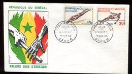 Sénégal - Enveloppe FDC 1963 - Sports - O 133 - Sénégal (1960-...)
