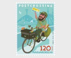 HUNGARY , 2018, MNH, POST CROSSING, BICYCLES, BOATS, BRIDGES,1v - Post