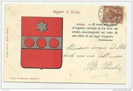 AGARI DI SICILIA 1901 VIAGGIATA FP - Andere Steden
