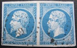 R1680/3 - NAPOLEON III (PAIRE) N°14A - PC 59 : AMBERT (Puy-de-Dome) - 1853-1860 Napoleon III