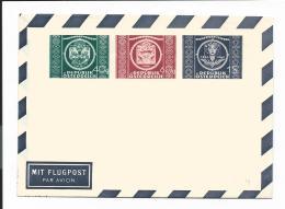 Österreich  PLF 4 **  -  40, 60 Gr Neben 1 Sh UPU Faltbrief - Entiers Postaux