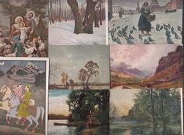 LOT De 38 CPA FANTAISIE - Paysages Personnages - Postcards