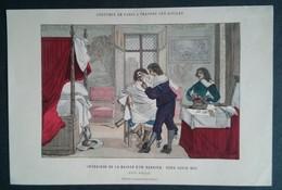Intérieur De La Maison D'un Barbier, Sous Louis X111 - Lithographies