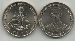 Thailand 5 Baht 1996 (2539) Y# 320 50th Anniversary Of Reign Of Rama IX - Thaïlande