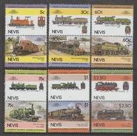 SERIE NEUVE DE NEVIS - LOCOMOTIVES N° Y&T 299 A 310 - Trains