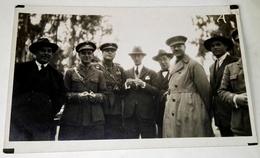 Antigua Foto - Postal / Retrato De Un Grupo De Oficiales Del Ejercito Español Y Civiles / Años 20 / Original - Personajes