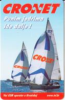 CROATIA(chip) - Sailing, Cronet/Punim Jedrima Ide Dalje, 05/99, Used - Sport
