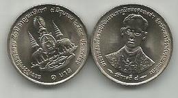 Thailand 1 Baht 1996 (2539) Y# 330 50th Anniversary Of Reign Of Rama IX - Thaïlande