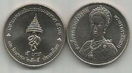 Thailand 5 Baht 1992. Y#260 60th Anniversary Of Queen Sirikit - Thaïlande