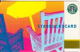 USA - Umbrella(yellow), Starbucks Card, CN : 6034, Unused - Gift Cards