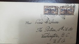 O) 1935 PANAMA, BICYCLE MESSENGER. SPECIAL DELIVERY STAMP SCOTT E4- OVERPRINTRED IN BLUE CORREO AEREO 25 CENTESIMOS, TO - Panama