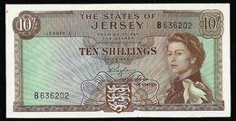 JERSEY 10 SHILLINGS 1963 PICK # 7 UNC BANKNOTE - Jersey