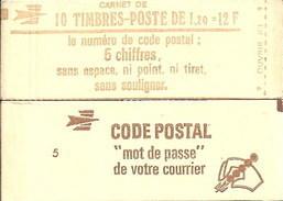 """CARNET 1974-C 2 Sabine De Gandon """"CODE POSTAL"""" Conf. 5 Fermé Parfait état Bas Prix RARE - Carnets"""