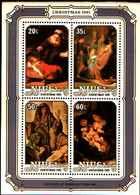 72347) NIUE - NATALE 1981-QUADRI DI REMBRANDT-BF-51- MNH** - Niue