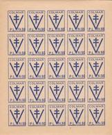 France 1945 - Libération Colmar Variété- Feuillet Neuf** RRR Sans Piquage Horizontal - Luxe - Liberation