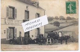 71 VAREILLES Entrée Du Bourg; Auberge AUCLAIR ; Attelage Avec Un ANE - 011018 - Autres Communes
