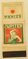 SZIKRA/JUPITER-GLOBUS BUDAPEST,AUSTRO-HUNGARY,MATCHBOOK SKILLET - Boites D'allumettes - Etiquettes