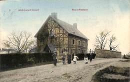 Ivoz Croix St Hubert - Maison Rustique (animée, Colorisée, Edit. Poncelet...texte Liège Cortège Vieilles Chansons - Flémalle