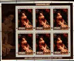 72353) NIUE - 1977 Natale RUBENS- N.197-MINFOGLIO DI 6 V. - MNH** - Niue