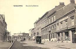 Waremme - Rue De La Station (animée, Attelage Chevaux, Journal La Hesbaye, Edit. Impr. Jeanne) - Waremme