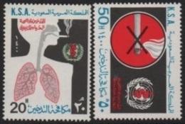 Saudi Arabi (K.S.A) 1980 World Health Day (Anti-Smoking Campaign)-Journée Mondiale Santé (Campagne Anti-Tabac) ** - Saoedi-Arabië