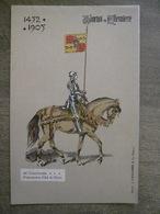 Cpa Tournai - Tournoi De Chevalerie - 1452-1905 - De Chasteleer Porte-Pennon D'Ad. De Clèves - Vandamme & Co éditeurs - Tournai