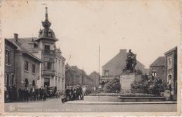 CPA Frameries - Monument Alfred Defuisseaux Et Maison Du Peuple (belle Animation) - Frameries