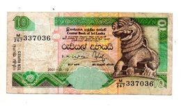Sri Lanka - 2001 - Banconota Da 10 Rupie - Usata -  (FDC887) - Sri Lanka