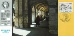 122 Carte Officielle Exposition Internationale Exhibition La Haye 1994 FDC Georges Simenon Emission Commune Joint Issue - Esposizioni Filateliche