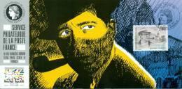 132 Carte Officielle Exposition Internationale Exhibition Basel 1994 FDC Georges Simenon Emission Commune Joint Issue - Esposizioni Filateliche