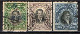 ECUADOR - 1901 - ABDON CALDERON - MAJIA - MOLTALVO - PERSONALITA' DELL'ECUADOR -  USATI - Ecuador