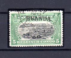 1916  Ruanda-Urundi, Type Tombeur 5c Surcharge Main Ruanda, 9 Oblitéré, Cote 275 €, - 1916-22: Oblitérés