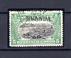 1916  Ruanda-Urundi, Type Tombeur 5c Surcharge Main Ruanda, 9 Oblitéré, Cote 275 €, - Ruanda-Urundi