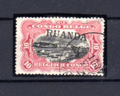 1916  Ruanda-Urundi, Type Mols 10c  Surcharge Ruanda, N° 10 Oblitéré, Cote 300 €, - 1916-22: Oblitérés