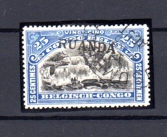1916  Ruanda-Urundi, Type Tombeur  Surcharge Ruanda, 12 Ob, Cote 300 €, - 1916-22: Oblitérés