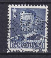 Denmark Perfin Perforé Lochung (H09) 'H.' In Cigar Label A/S C.A. Herstad, København (2 Scans) - Abarten Und Kuriositäten