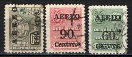 ECUADOR - 1952 - FRANCOBOLLI DI SERVIZIO CONSOLARE CON SOVRASTAMPA - OVERPRINTED - USATI - Ecuador