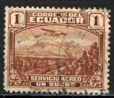 ECUADOR - 1939 - AEREO CHE SORVOLA SUL MONTE CHIMBORAZO - USATO - Ecuador