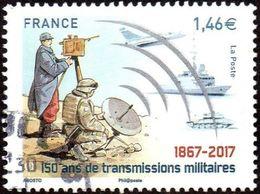 Oblitération Cachet à Date Sur Timbre De France N° 5172 - 150 Ans De Transmissions Militaires - France