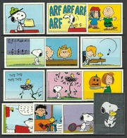 SNOOPY 1986 Aufkleber Stickers Panini (aus Gaugummi-Packungen?) 13 Verschiedene - Aufkleber