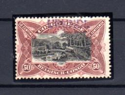 """1916 Emission Tombeur """"du Havre"""" 50c Surcharge Urundi, N° 21.B * Avec Certificat    Train Sur Un Pont - 1916-22: Neufs"""