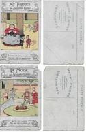 6 CP B RABIER (Tarif Inédit-Un évènement-Aux Tuileries-La Mode-Esprit Imitation-Précaution Utile) état Très Très Moyen - Rabier, B.