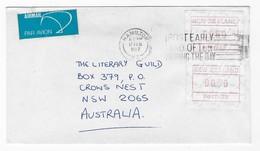 New Zealand 1987 Frama ATM Commercial Cover Australia Map Hamilton - Storia Postale