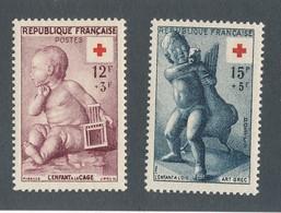 FRANCE - N°YT 1048/49 NEUFS** SANS CHARNIERE - COTE YT : 16.50€ - 1955 - France